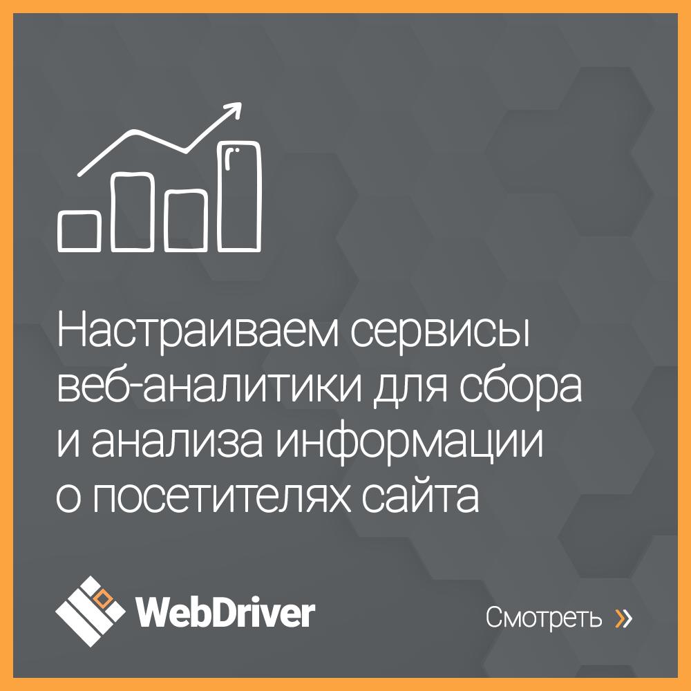 Настраиваем сервисы веб-аналитики для сбора и анализа информации о посетителях сайта