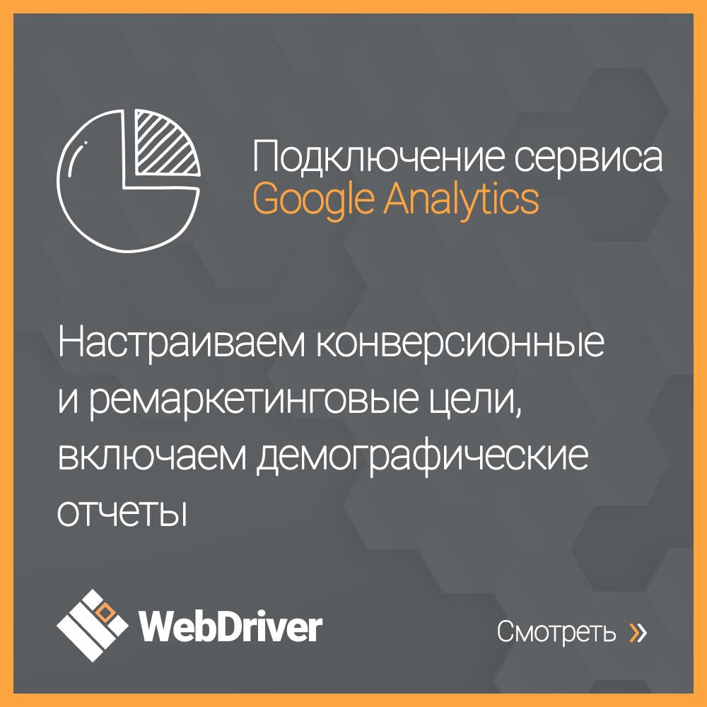 Подключение сервиса Google Analytics