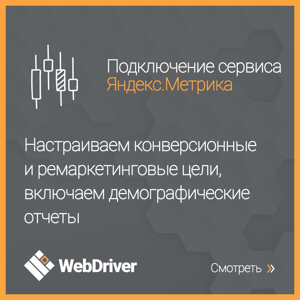 Подключение сервиса Яндекс.Метрика