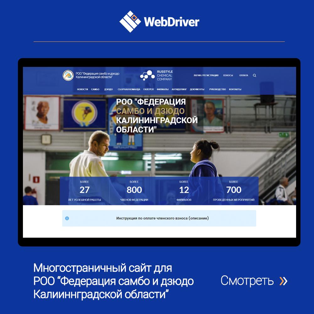 Многостраничный сайт для РОО
